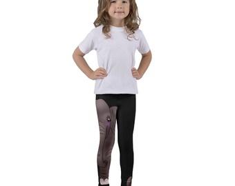 Elephant Kid's leggings, Wild Animal, Kids Unisex Clothing, Gift for Toddler Boys, Girls Dance Wear, Safari Zoo Animal, Kids Gymnastic Pants