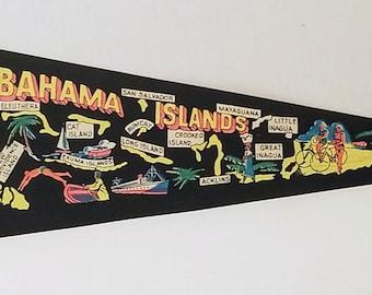 The Bahama Islands - Vintage Pennant