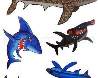 Premium Shark Tattoos, Party Favors, Temporary Tattoo