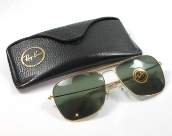 Ray Ban Glasses, Leather Case, Bausch And Lomb, Sunglasses, Vintage Ray Ban Sunglasses With Caseclutch Case, Ray Ban, Collectible
