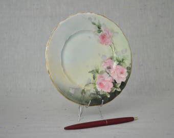China Plate with Roses & Gold Trim