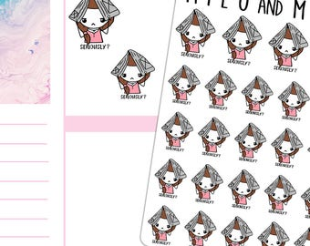 Seriously? Raining Newspaper Girls | Planner Stickers | Multiple styles