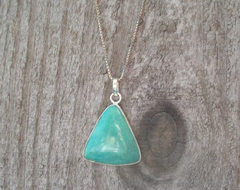 Gemstone Pendant With 925 Sterling Silver Stamped Chain