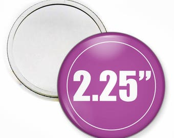 Compact Mirror, 2.25 inch Round, Personalized Compact Mirror, Pocket Mirror Compact, Bulk Discounts Available