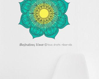 Mandala, choisissez votre dégradé de couleur, zen, méditation, anti-stress