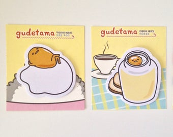 Sanrio Gudetama the lazy egg cute kawaii kitsch sticky notes post-its sticky markers
