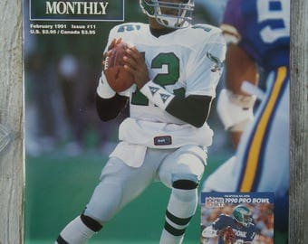 1991 Randall Cunningham Beckett - Vintage magazine - Philadelphia Eagles gift, Football decor, Philadelphia Eagles football, Eagles football