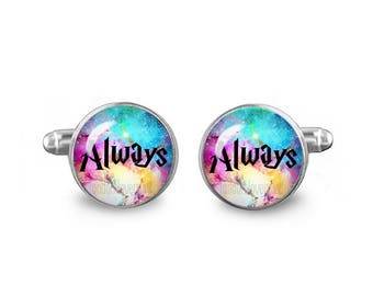 Always Symbol Cuff Links Always  Cuff Links 16mm Cufflinks Gift for Men Groomsmen Geeky Cuff links Fandom Jewelry