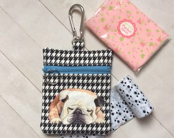 Dog Walking Bag , Bulldog Pouch, Dog Treat Bag, Bulldog Lover Gift, Dog Training Bag, Dog Lover Gift, Dog Gift
