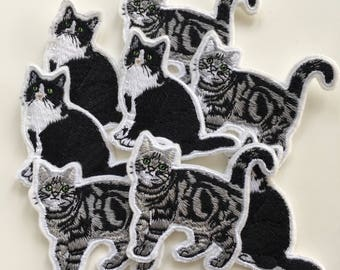 Cute Kitty Cat Embroidered Iron On Patch