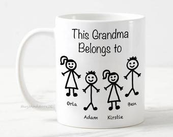 Grandma tea coffee mug, Personalized Grandma Mug, Granny gift, Custom Grandma Mug, grandma coffee mug, Grandparent gift, grandma mug