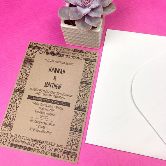 Rustic wedding invitations cheap, Rustic wedding invitations kits, Wedding invites uk, Wedding invitations recycled paper, Custom wedding A5