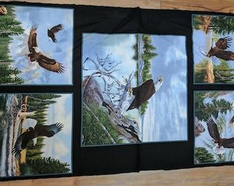 Majestic Bald Eagle Cotton Fabric Panel from Elizabeth's Studio