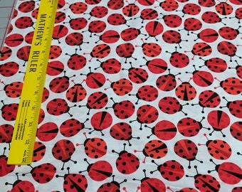 Urban Zoologie-Ladybugs Cotton Fabric by Anne Kelle for Robert Kaufman Fabrics