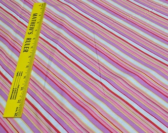 Pink Diagonal Striped Cotton Fabric from Windham Fabrics