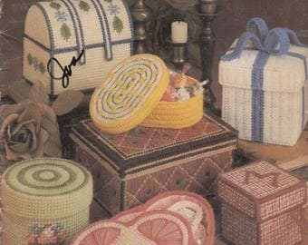 Needlepoint Boxes in Plastic Canvas