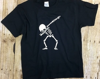 Halloween Shirt - Skeleton Dab - Dab Shirt - Dabbing - Halloween Shirt for Boy - Funny Halloween Shirt - Skeleton Shirt