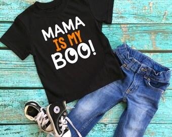 Halloween shirt - Mama is my boo Shirt - toddler Boy Halloween shirt - Pumpkin patch Halloween shirt - Mommy is my boo - boy halloween shirt