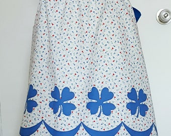 Vintage half apron, vintage fabric, half apron, country kitchen, floral apron, women's half apron, kitchen gift, cooking gift, baking apron