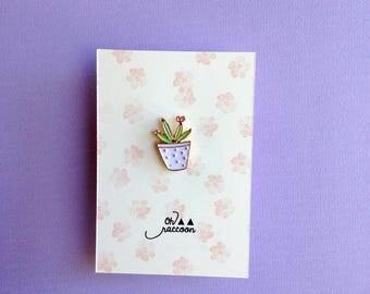 Pins brooch floral cactus