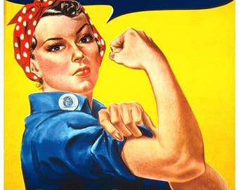 Rosie The Riveter - We Can Do It Poster - World War II Art - Vintage Print Art - Home Decor