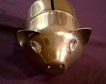 Vintage Leonard Silverplate Piggy Bank