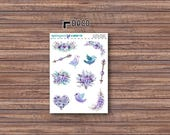 Floral Frost Deco Stickers | ECLP | Happy Planner | Recollections Planner