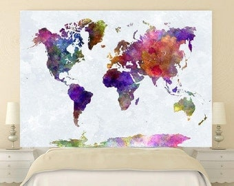 World Map tapestry, Boho world map wall decor, world map series, kids room decor