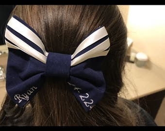 Dress Blues Bow - Military Bow - Personalized Bow -  Handmade Bow - Hair Accessories - Hair Bow