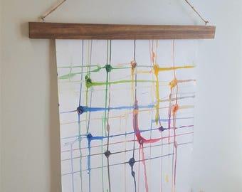 wood poster frame magnetic poster hanger picture frame wall hanging wood frame - Wood Frame Wall