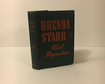 Vintage 1943 book, Brenda Starr Girl Reporter / Dale Messick / Hard to Find, Very Good condition / Great graphic art / WWII