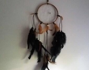 Handmade Dreamcatcher, Black and Brown