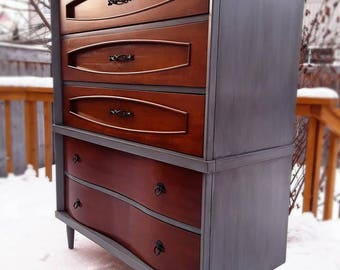 SOLD***-Restyled,Mid CENTURY Highboy -Free Delivery in Ottawa