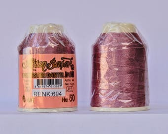 oya Turkish lace crochet polyester no50 thread color 694 Altun Basak haakgaren for needle no 21 / 0,55 - 20 gr