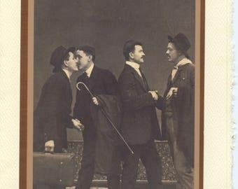 Different Strokes: Vintage LGBTQ+ Card - polyamorous gay card, gay couples card, groomsmen card, vintage photo card, gay men card