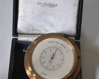 1930's Venner Laboratory Electical Timing Clock