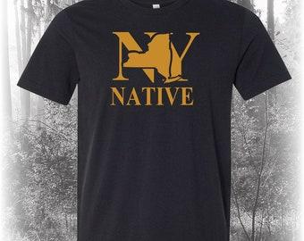 Black New York Native Shirt, Native New York Shirt, New York Shirt, NY Shirt, New York State Shirt