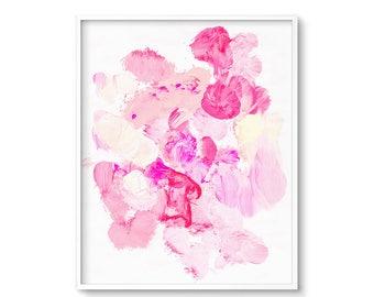 Pastel Abstract Art, Pink Nursery Art, Glam Wall Art, Pastel Abstract Painting, Pink Abstract Art, Modern Artwork, Printable Art, Pink Decor