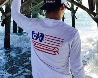 Ocean Raised American l/s soft style tee