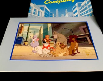 Vintage Lithograph: Disney's Oliver & Company