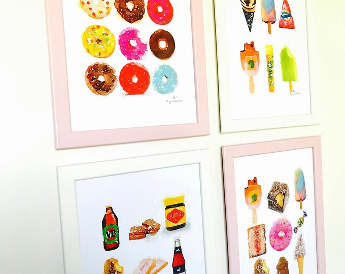 Iconic Australian Prints - Treats that make you smile.  A4 Size Designed and Printed in Australia.