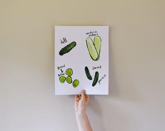 Pick-A-Pickle / Kitchen Art / Print
