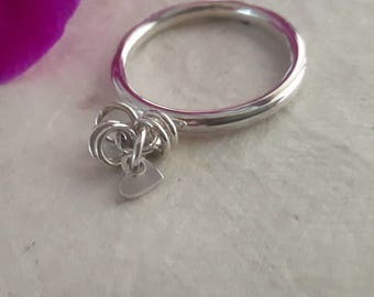Sterling Silver Charm Ring