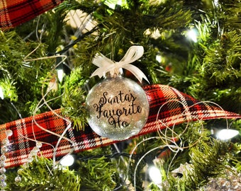 Santa's Favorite Ho Ornament, Funny Ornament, Coworker Gift, Christmas Ornament