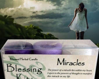 Blessed Herbal Candles Blessing Kits Miracles Healing, Heart and Spiritual Cleansing