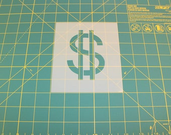 Dollar Sign Stencil - Reusable DIY Craft Stencils of a Dollar Sign