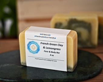 Lemongrass with French Green Clay Handmade Soap