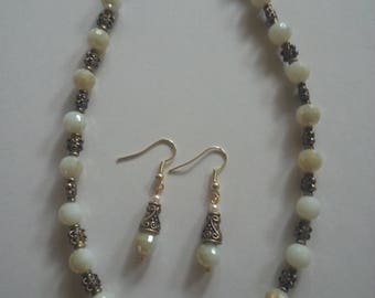 White yellow Bead Jewelry