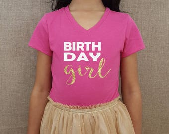birthday girl, birthday girl shirt, kids birthday shirt, glitter birthday girl, kids birthday, birthday party shirt, kids birthday clothing