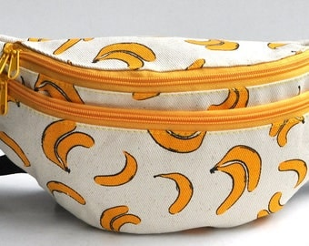 Fanny Pack yellow banana   hip bag,bum bag,waist bag,belt bag,hip pouch,bags & purses festival bag, concertsbag, festival bag ,camping bag